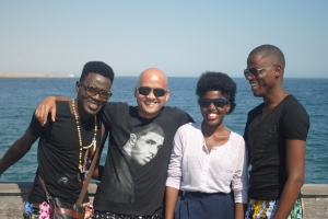 At Swakopmund with these great souls who made me not miss home once.We sang and now it was time to hit the beach