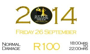 SFWA 2014 Tickets FRIDAY Normal Damage R100