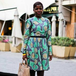 At MBFWAfrica Dress: Thabile Mfokazi Photo : Uyapo_port
