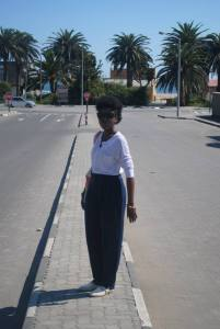 At Swakopmund Namiba headed to the beach