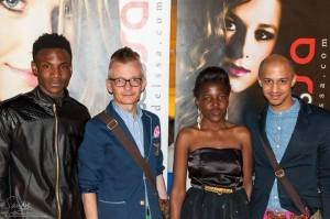 Day 2 at Style Fashion week with Eric, Alan & Krishen. I was dressed by Sindi Photo: Sandor