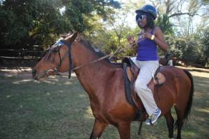 Horse-back riding for the first time in Swaziland. Ambition (My horse) & I didn't get along at first but we ended working out our differences.