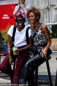 At Neighbour Goods Market with Lorraine, a young creative and photographer from Botswana Photo : By Kodic