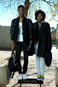 At a Style Fashion Week Africa shoot in Johannesburg Eric (L) & I Photo: Sandor Oroszi