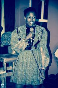 Speaking in front of a crowd about my project Style Fashion Week Africa. It was nerve-wrecking Dressed by Zamaswazi Photo by Gjee Mercy