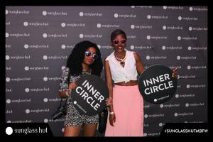Fooling around with glasses from SunglassHut with young fashion blogger Khensani. Photo by Instastation