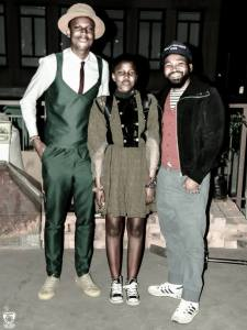 At the Style Fashion Week  Africa with Lebo from Macgale (L) & Sthembiso from Fruitcake vintage (R) I was dressed by Zamaswazi Nkosi Photo by Gjee Mercy