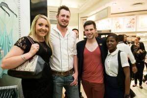 At the Flori Roberts South Africa launch in Stuttafords in Sandton City with a couple of industry friends