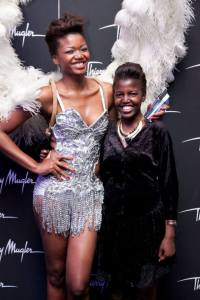 Thierry Muggler Angel launch in Sandton with a model. Felt really short but oh well......