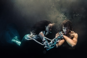 Mermaid and Warrior Underwater shoot by ilse moore and fuaad abdool Models: Bianca Koyaba and Fuaad Stylist and creative director: Fuaad Abdool