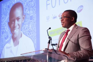 Gauteng MEC for Education, Panyaza Lesufi addresses the audience